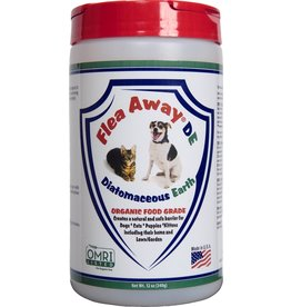 Flea Away FLEA AWAY DE ORGANIC FOOD GRADE DIATOMACEOUS EARTH 12OZ
