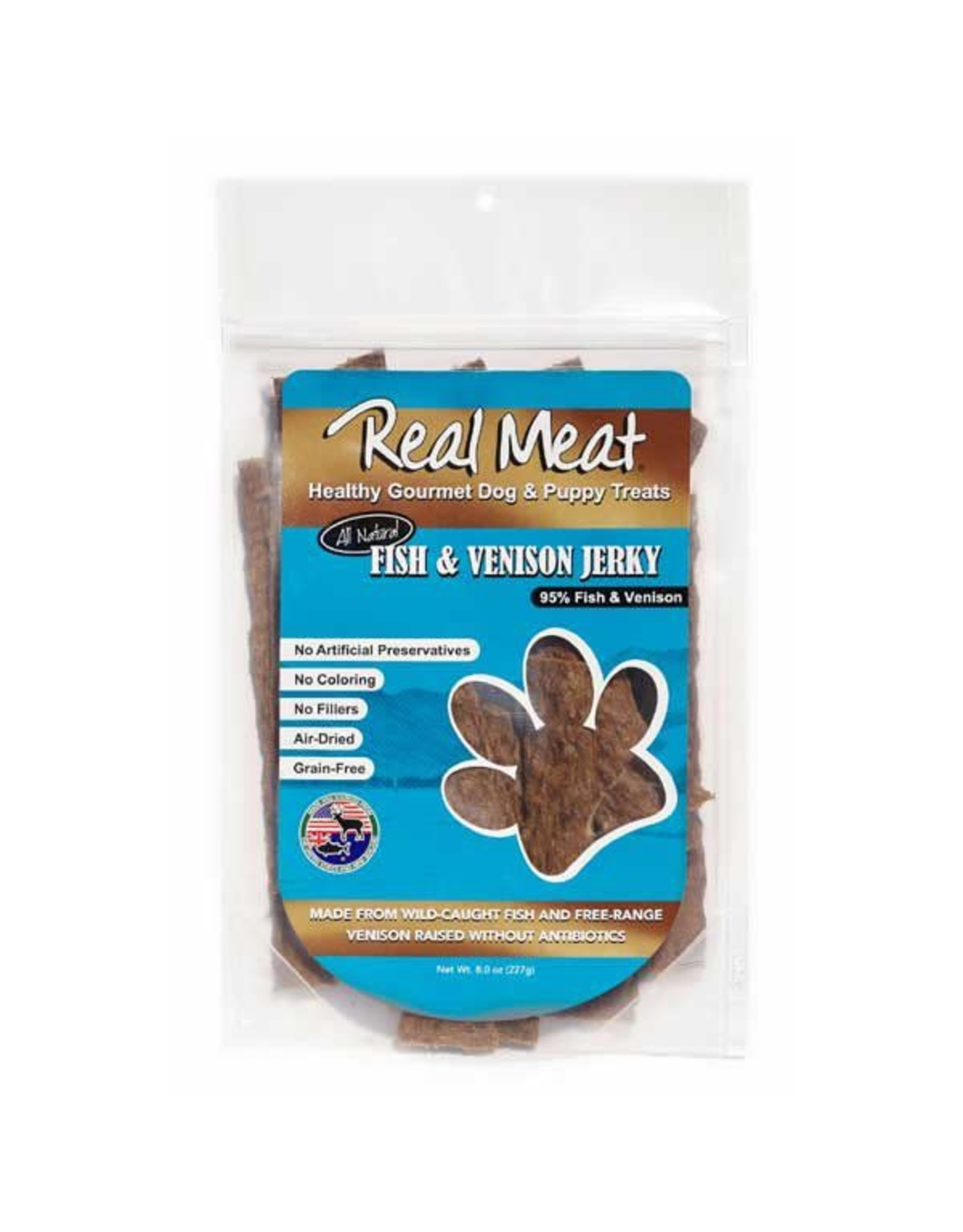The Real Meat Company THE REAL MEAT CO. FISH & VENISON JERKY TREATS 8OZ