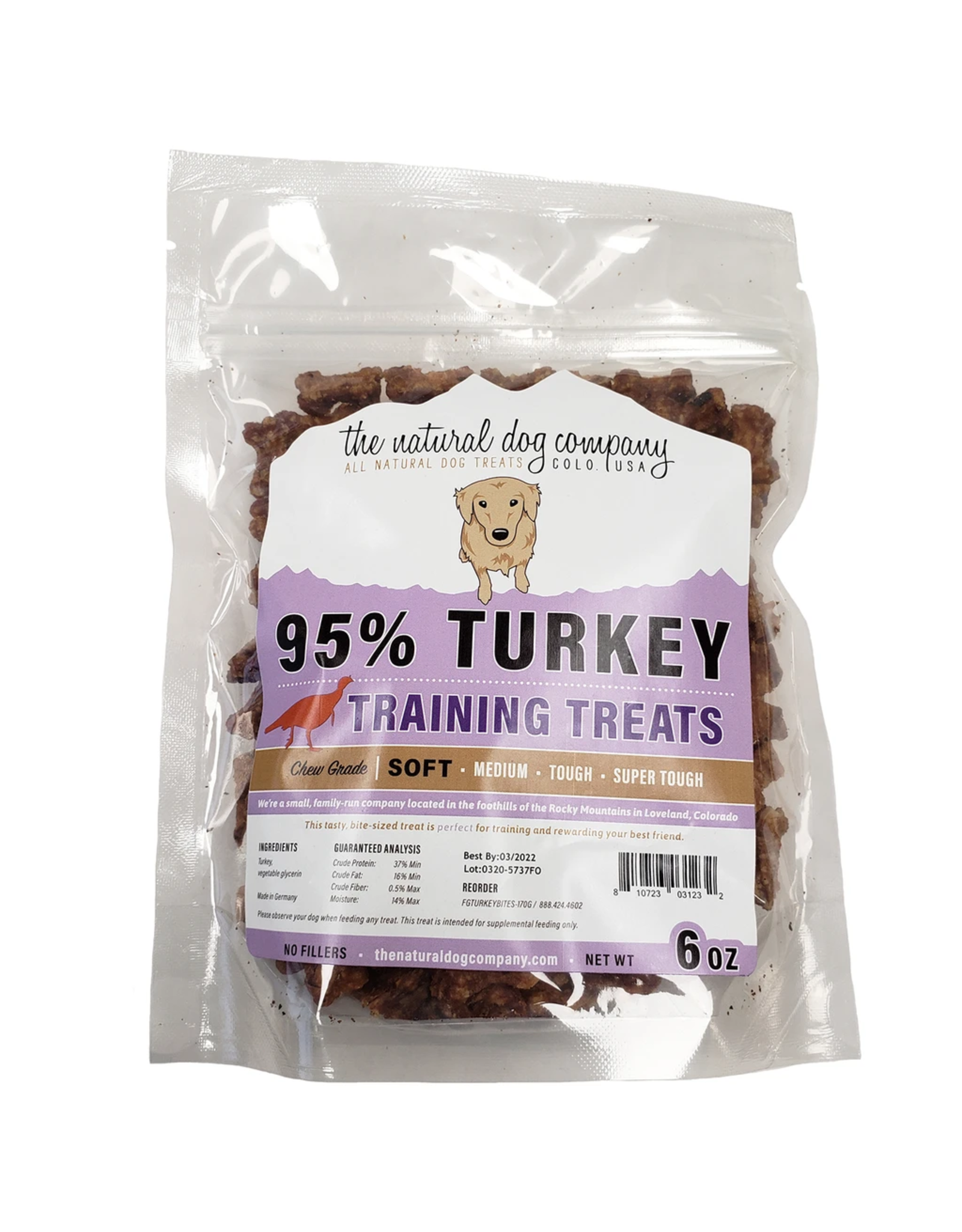 The Natural Dog Company THE NATURAL DOG COMPANY 95% TURKEY TRAINING TREATS 6OZ