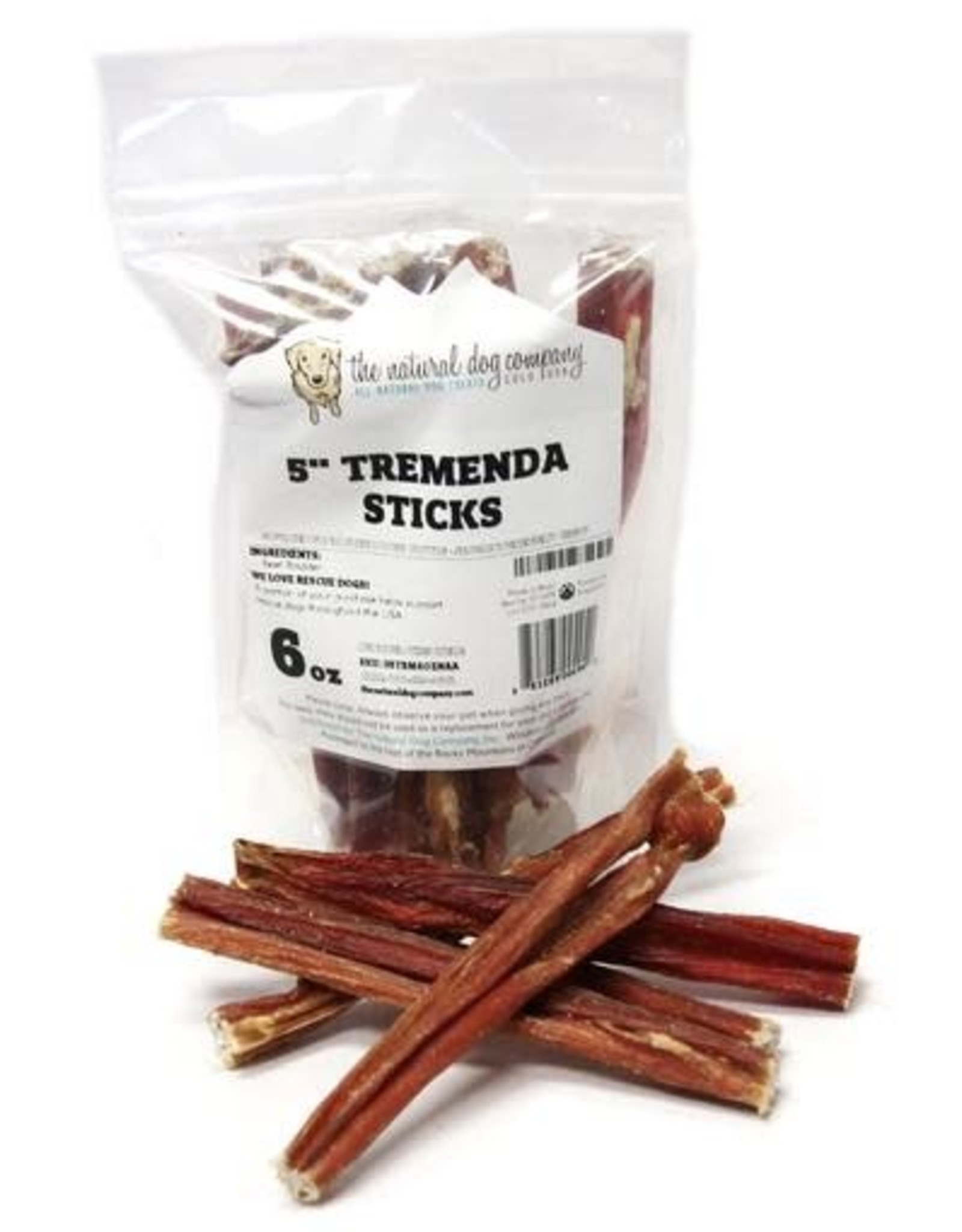 The Natural Dog Company THE NATURAL DOG COMPANY TREMENDA STICKS 6OZ BAG