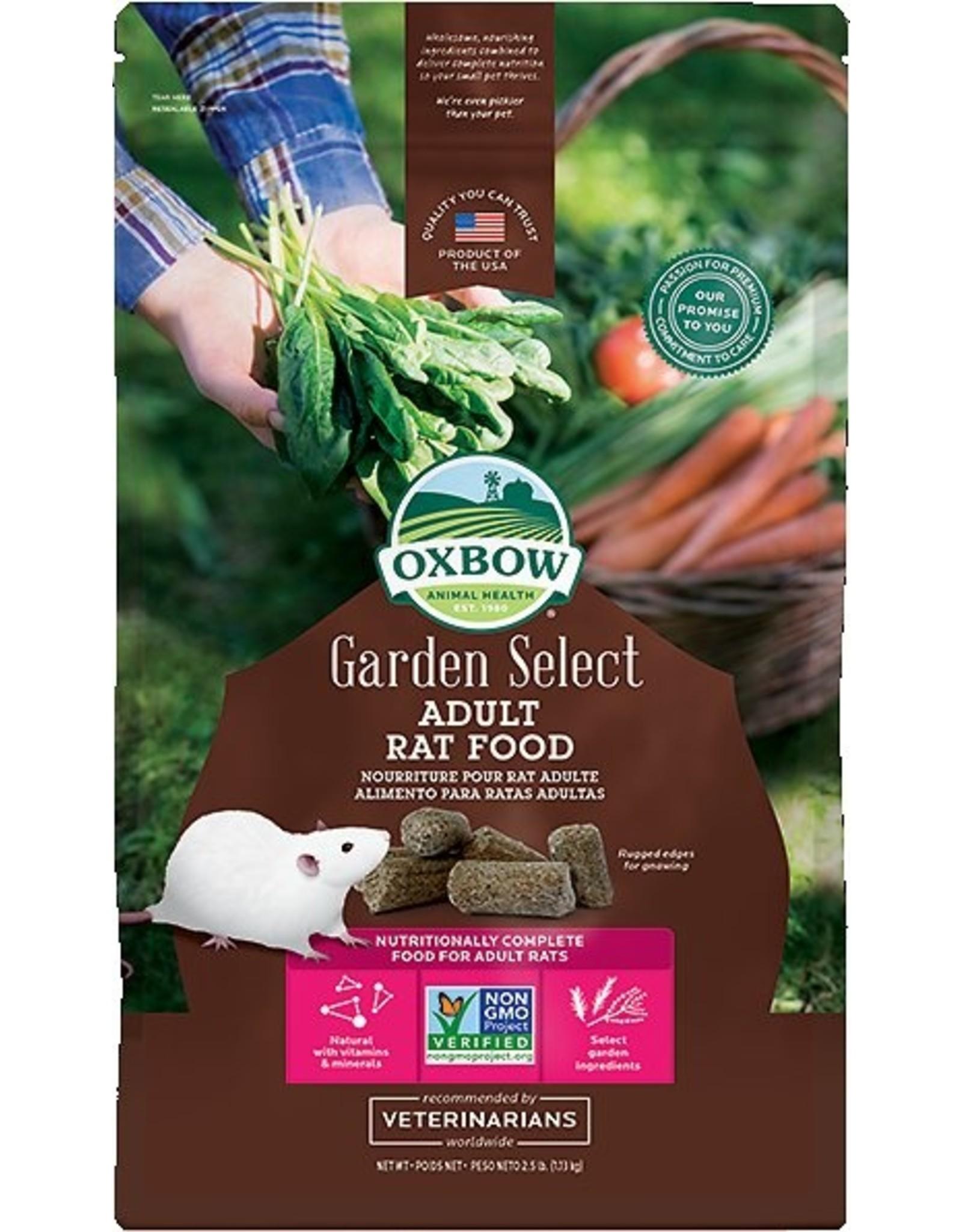 Oxbow Animal Health OXBOW GARDEN SELECT ADULT RAT FOOD 2.5LB