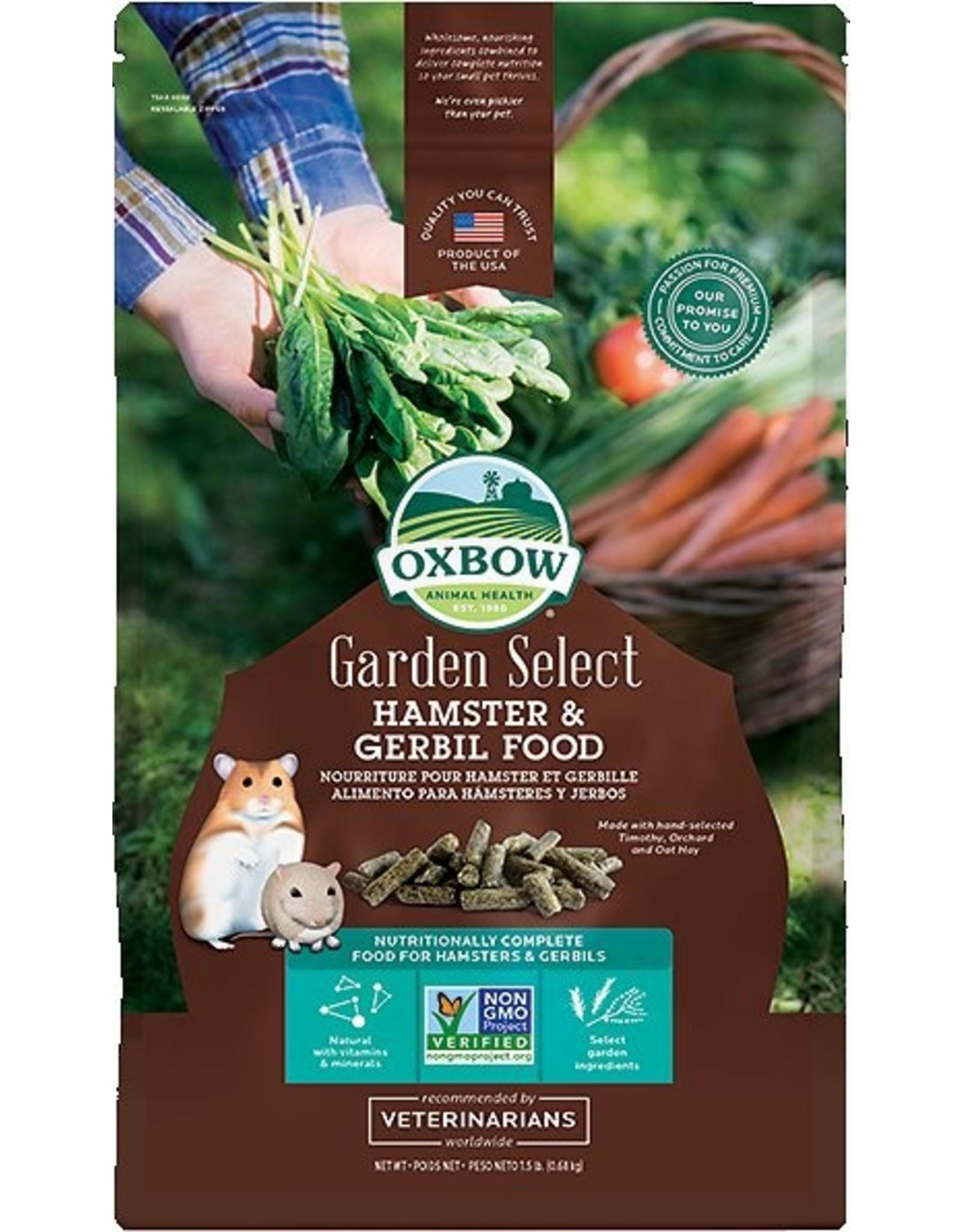 Oxbow Animal Health OXBOW GARDEN SELECT HAMSTER & GERBIL FOOD 1.5LB