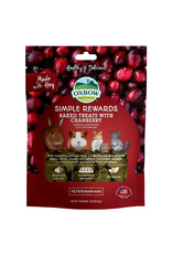 Oxbow Animal Health OXBOW SIMPLE REWARDS BAKED TREATS WITH CRANBERRY FOR SMALL ANIMALS 3OZ