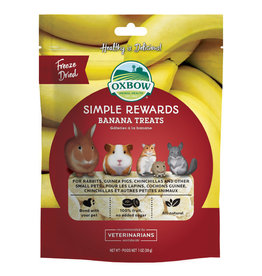 Oxbow Animal Health OXBOW SIMPLE REWARDS BANANA SMALL ANIMAL TREATS 1OZ