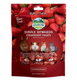 Oxbow Animal Health OXBOW SIMPLE REWARDS STRAWBERRY SMALL ANIMAL TREATS .5OZ