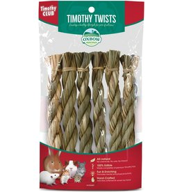 Oxbow Animal Health OXBOW TIMOTHY CLUB TIMOTHY TWISTS SMALL ANIMAL TREATS 6-COUNT