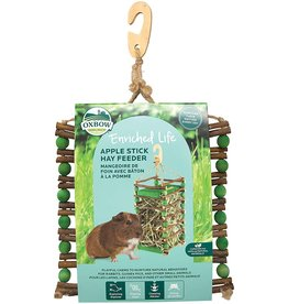 Oxbow Animal Health OXBOW ENRICHED LIFE APPLE STICK HAY SMALL ANIMAL FEEDER