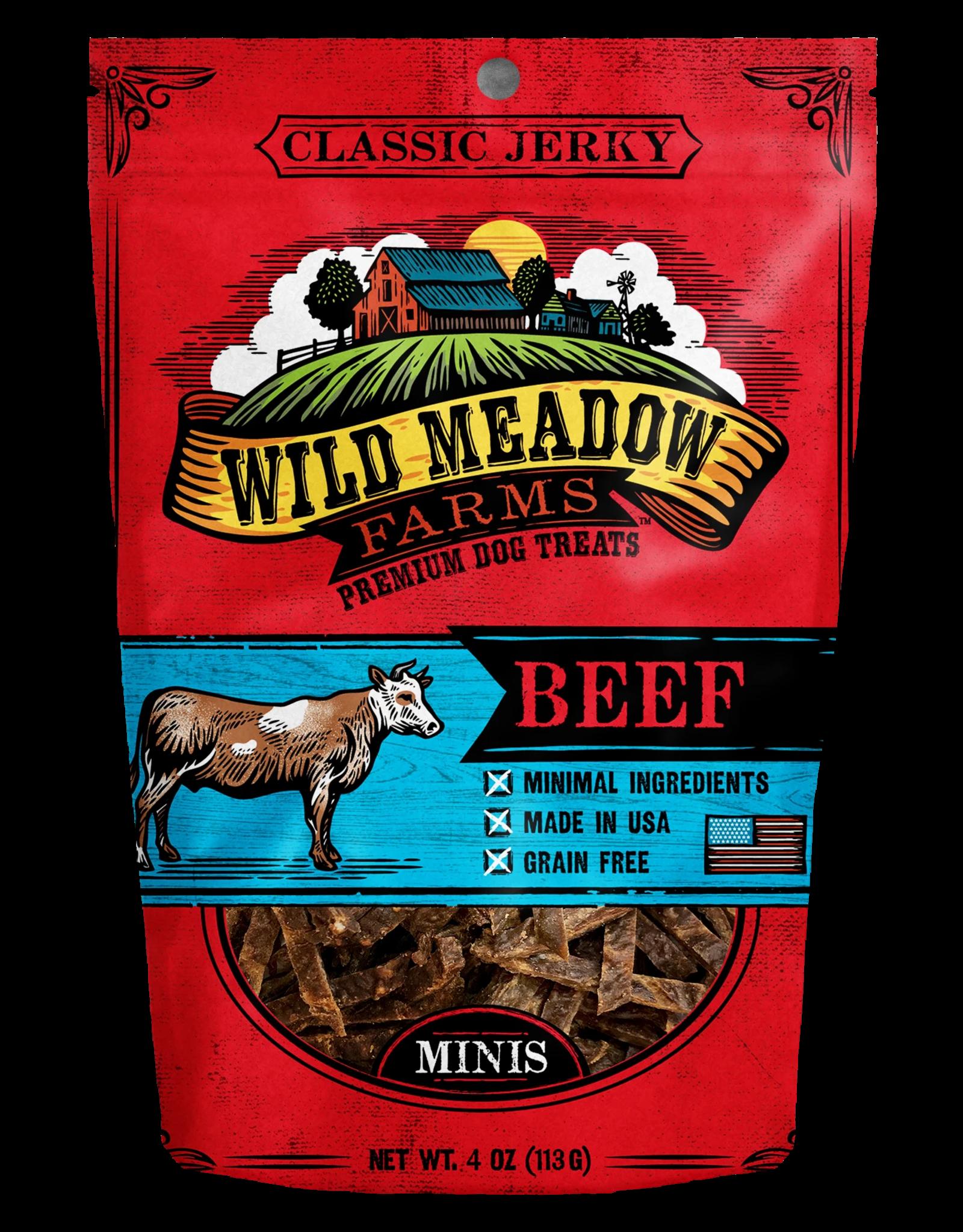 Wild Meadow Farms WILD MEADOW FARMS CLASSIC JERKY BEEF MINIS 4OZ