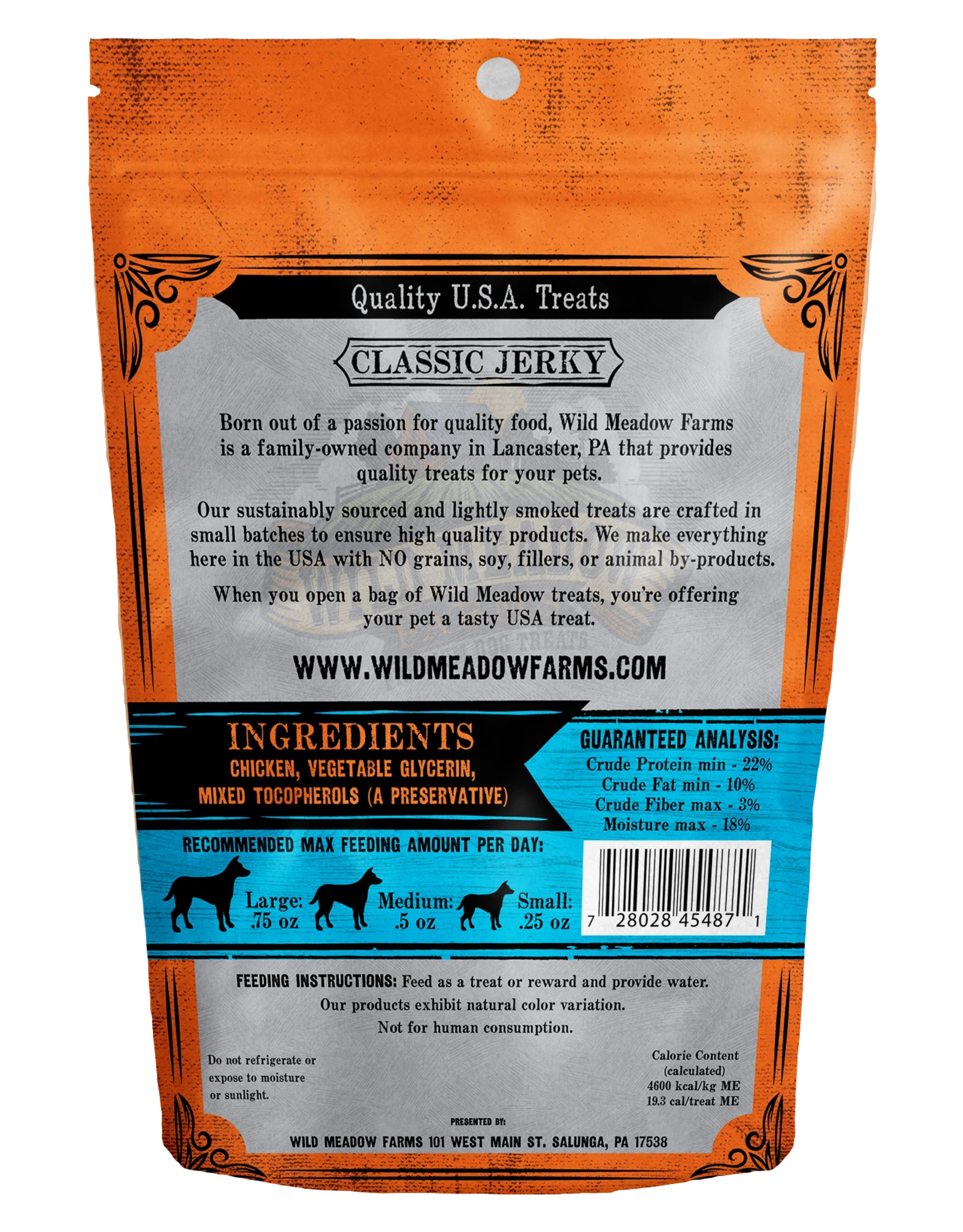 Wild Meadow Farms WILD MEADOW FARMS CLASSIC JERKY CHICKEN BITES 4OZ