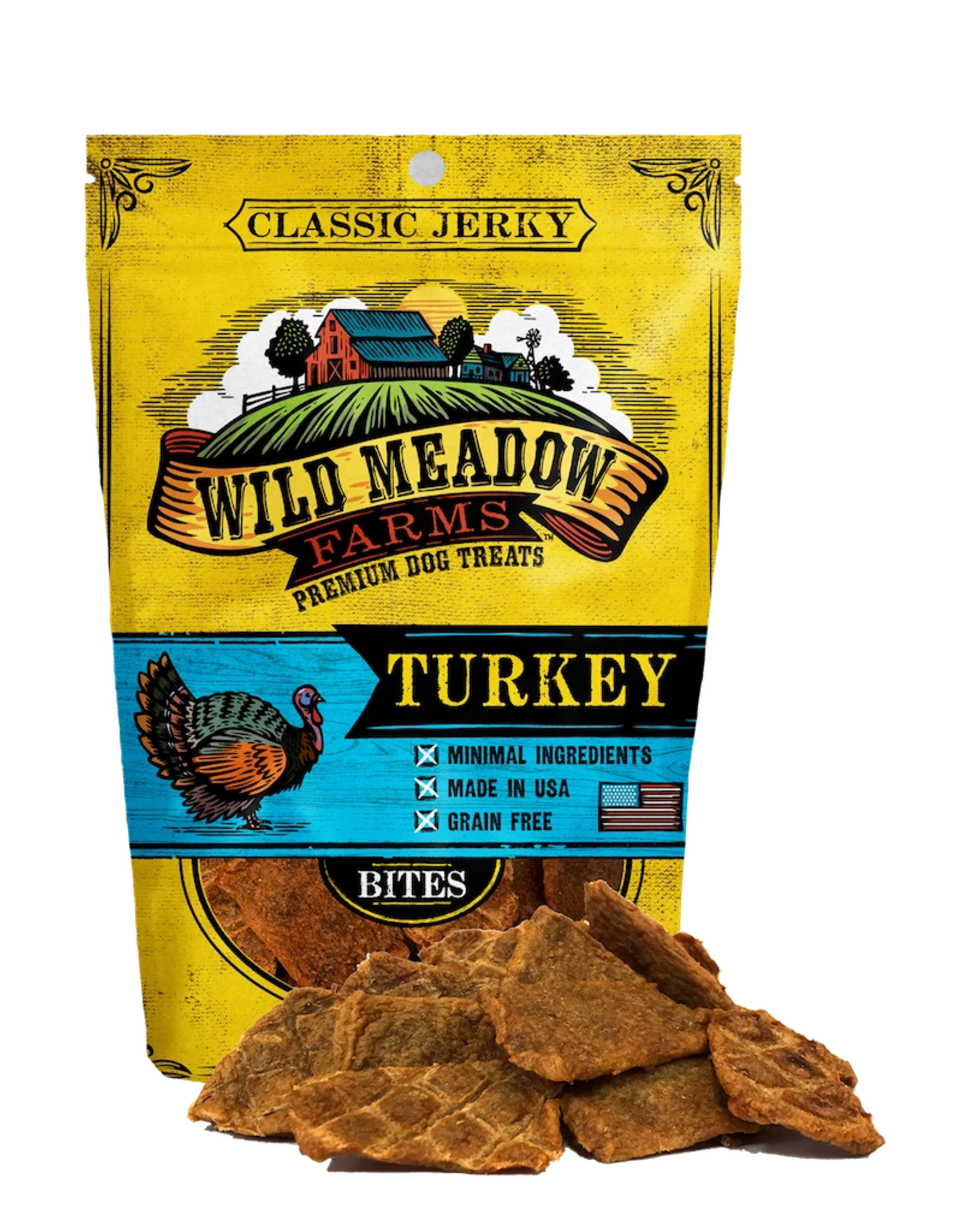 Wild Meadow Farms WILD MEADOW FARMS CLASSIC JERKY TURKEY BITES 4OZ