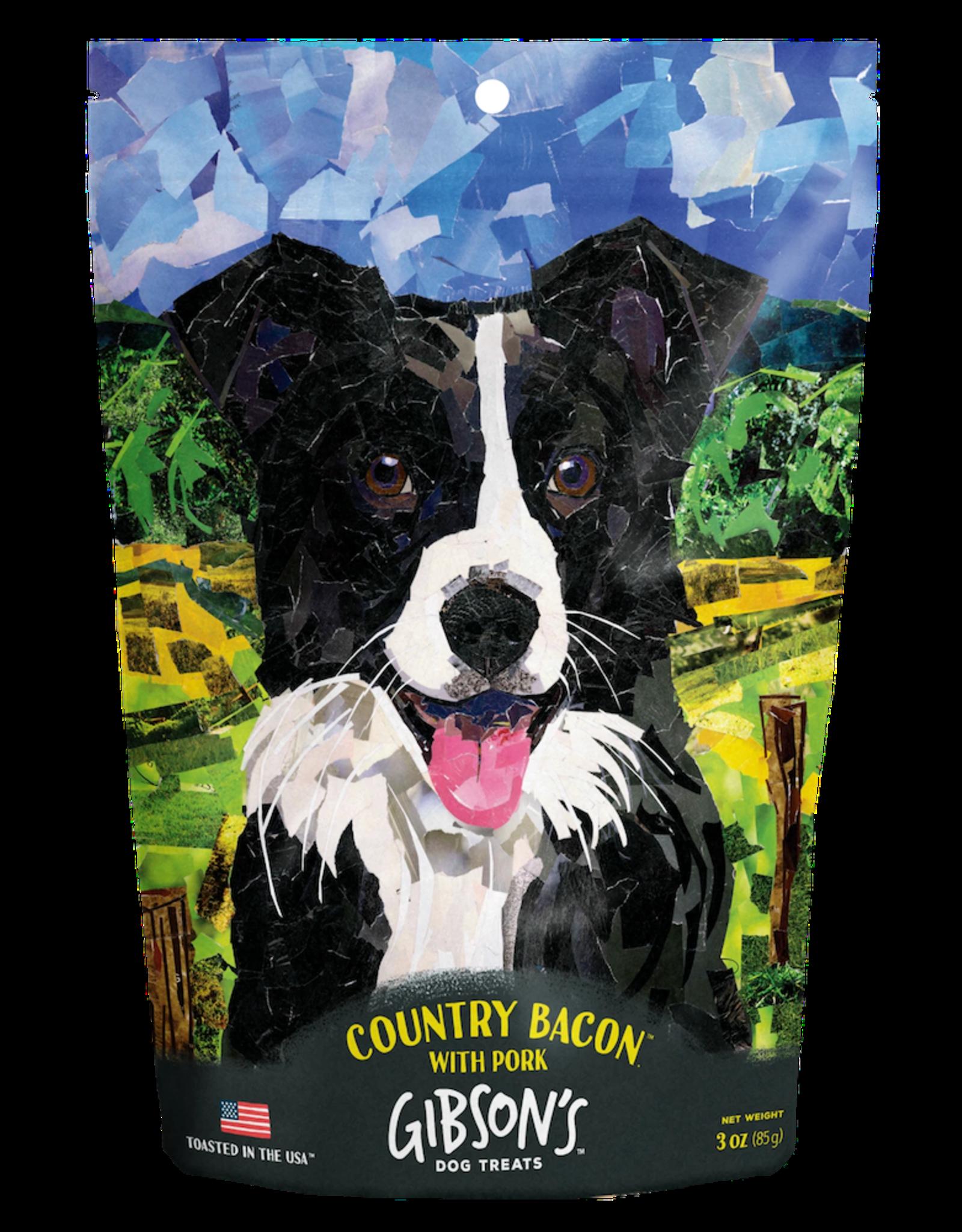 Wild Meadow Farms GIBSON'S COUNTRY BACON WITH PORK DOG TREATS 3OZ