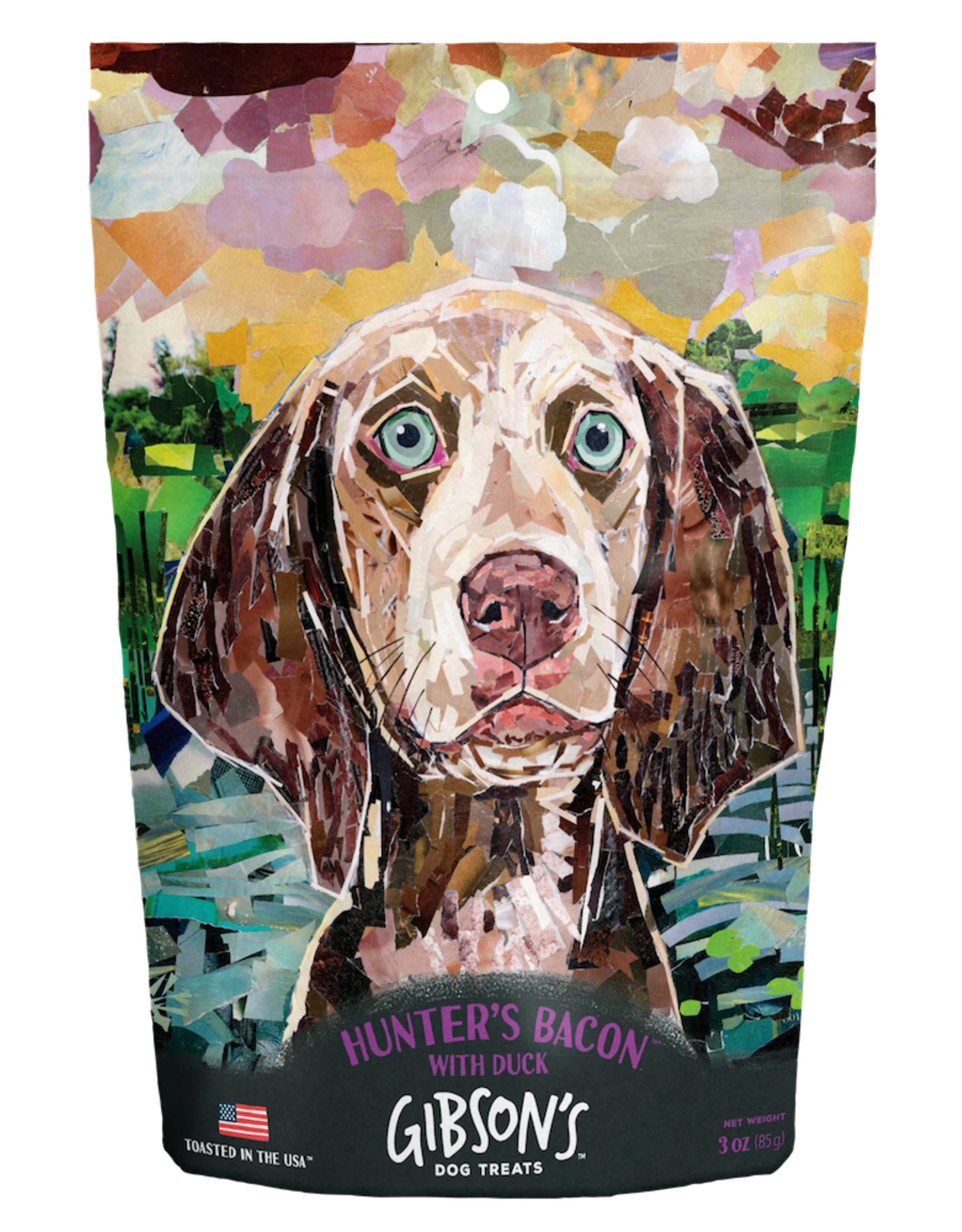 Wild Meadow Farms GIBSON'S HUNTER'S BACON WITH DUCK DOG TREATS 3OZ