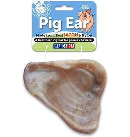 Pet Qwerks PET QWERKS BACON NYLON PIG EAR CHEW TOY