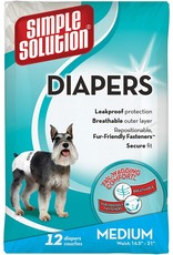 Bramton SIMPLE SOLUTION 12-COUNT DISPOSABLE DOG DIAPERS