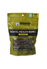 Indigenous Pet Products INDIGENOUS DENTAL HEALTH BONES MINI SIZE ORIGINAL FRESH BREATH FLAVOR 40-COUNT