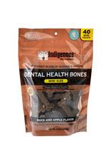 Indigenous Pet Products INDIGENOUS DENTAL HEALTH BONES MINI SIZE DUCK & APPLE FLAVOR 40-COUNT