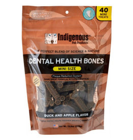 Indigenous Pet Products INDIGENOUS DENTAL HEALTH BONES MINI SIZE DUCK & APPLE FLAVOR 40-COUNT