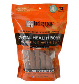 Indigenous Pet Products INDIGENOUS DENTAL HEALTH BONES CARROT AND PUMPKIN FLAVOR 13-COUNT