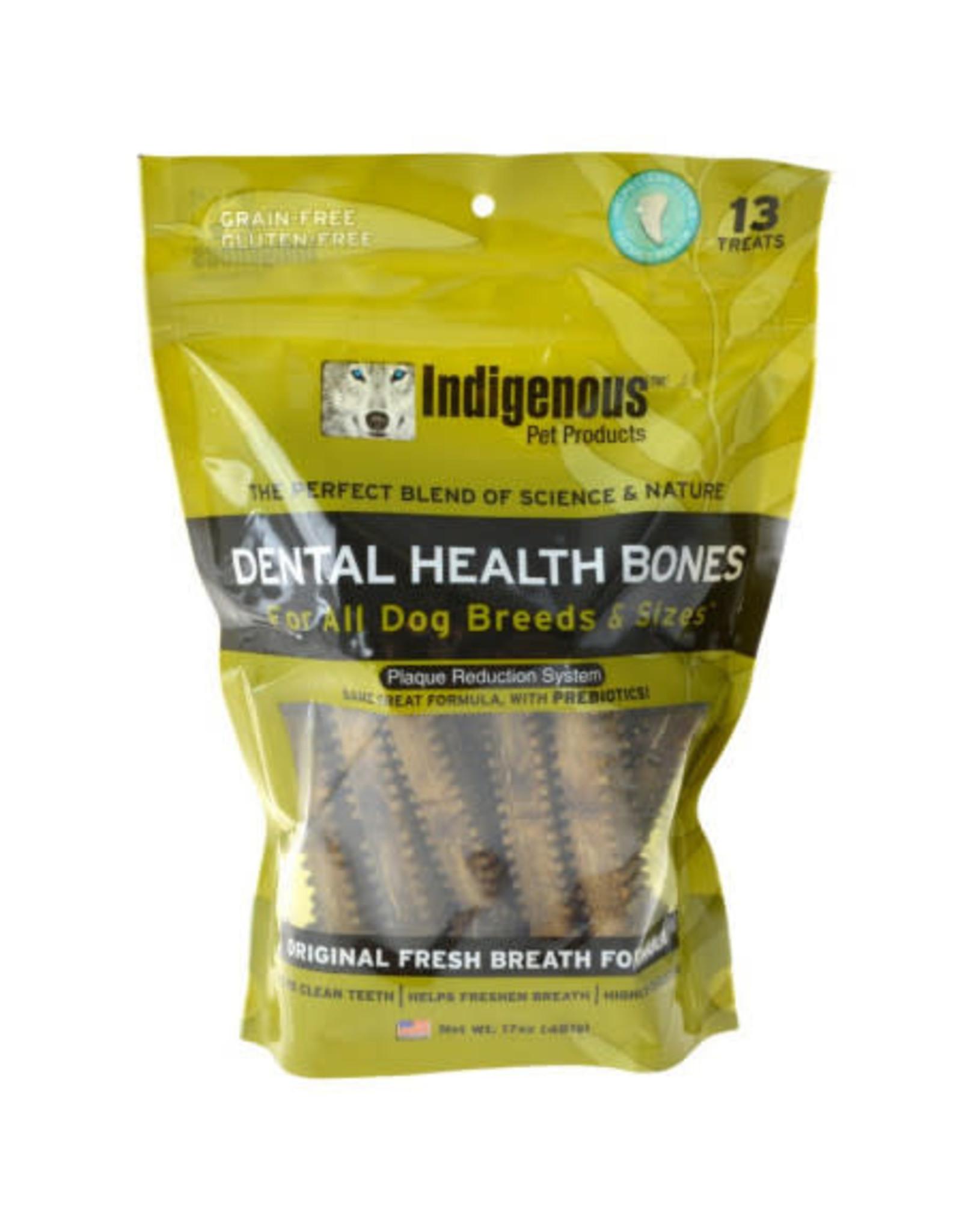Indigenous Pet Products INDIGENOUS DENTAL HEALTH BONES ORIGINAL FRESH BREATH FLAVOR 13-COUNT