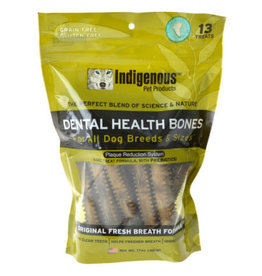 Indigenous Pet Products INDIGENOUS DENTAL HEALTH BONES ORIGINAL FRESH BREATH FLAVOR 13-COUNT