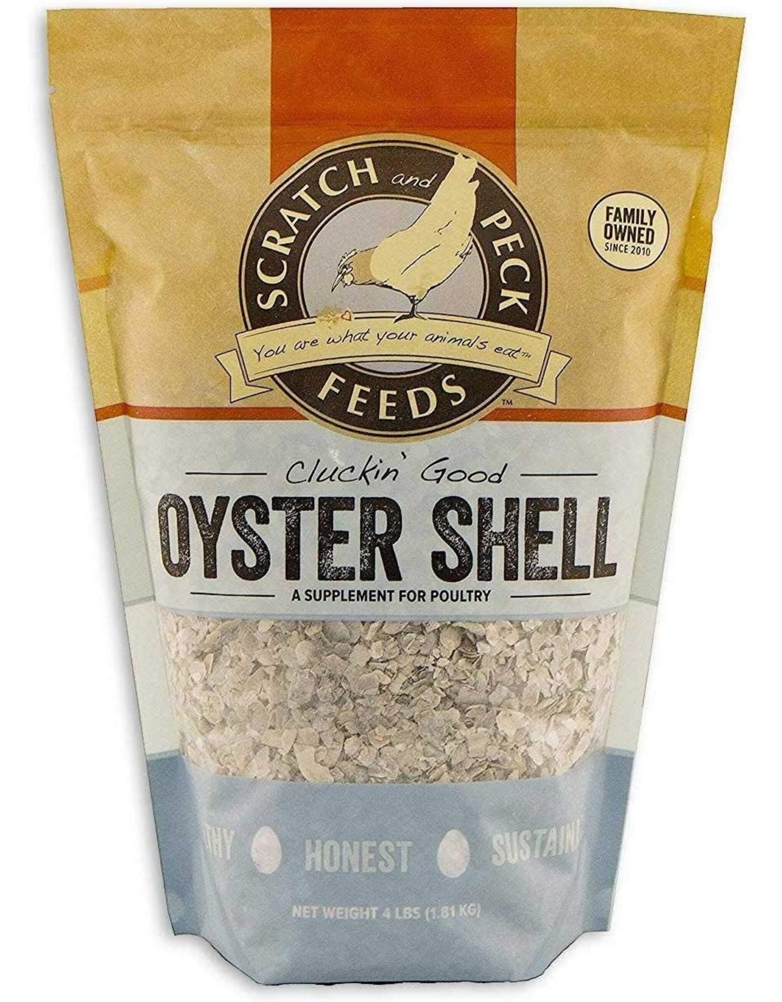 Scratch & Peck Feeds SCRATCH & PECK CLUCKIN' GOOD OYSTER SHELL SUPPLEMENT 4LB