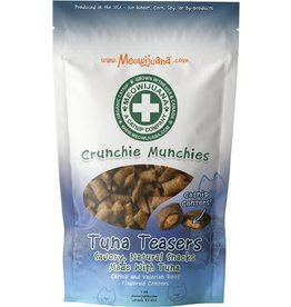 Meowijuana MEOWIJUANA CRUNCHIE MUNCHIES TUNA TEASERS CAT TREATS 3OZ