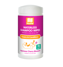 Nootie NOOTIE JAPANESE CHERRY BLOSSOM WATERLESS SHAMPOO WIPES 70-COUNT
