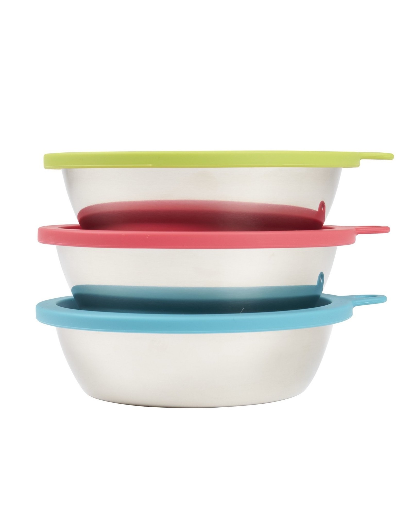 Messy Mutts MESSY MUTTS STAINLESS STEEL BOWL & LID 6-PIECE BOX SET
