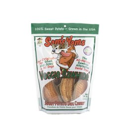 "Front Porch Pets SAM'S YAMS VEGGIE ""RAWHIDE"" SWEET POTATO DOG CHEWZ 14OZ"