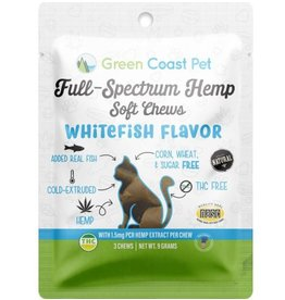 Green Coast Pet GREEN COAST PET FULL-SPECTRUM HEMP SOFT CHEWS WHITEFISH FLAVOR 30-COUNT
