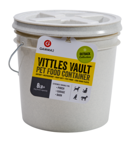 Gamma Plastics, Inc. GAMMA2 VITTLES VAULT PET FOOD CONTAINER WITH QUART DISH 8-10LB