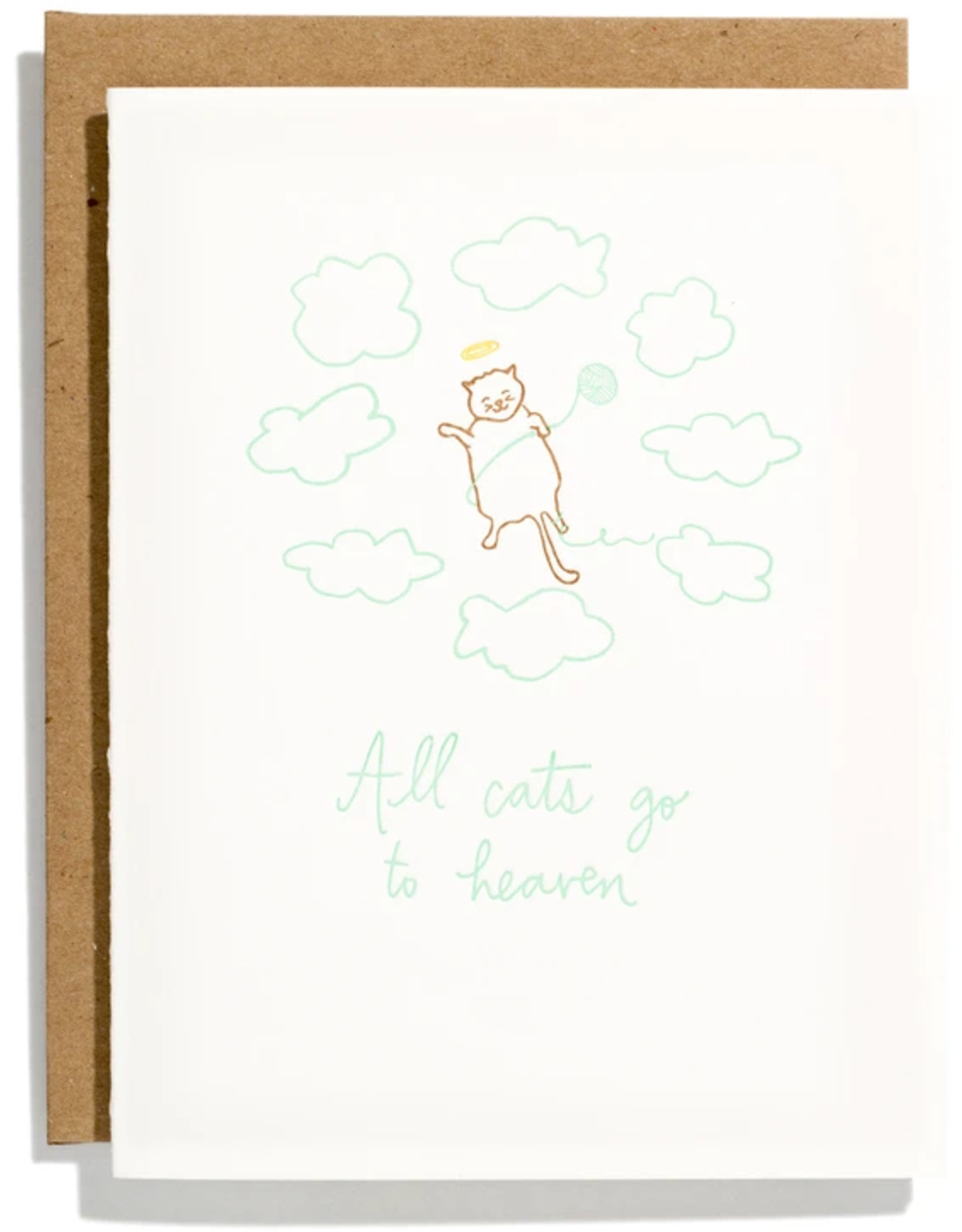 Iron Curtain Press IRON CURTAIN PRESS ALL CATS GO TO HEAVEN GREETING CARD