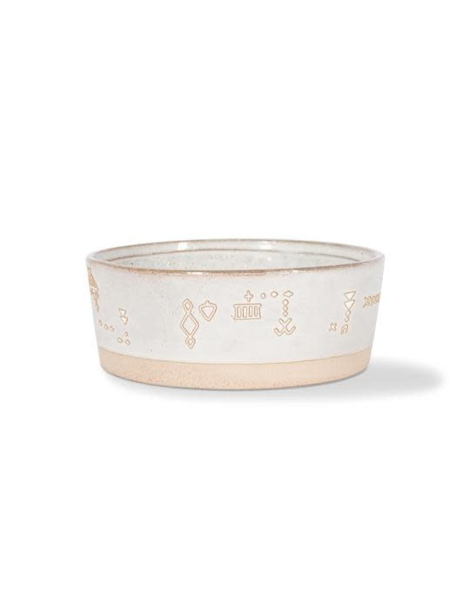 Pet Shop by Fringe Studio FRINGE STUDIO TRIBAL MARKS WHITE PET BOWL