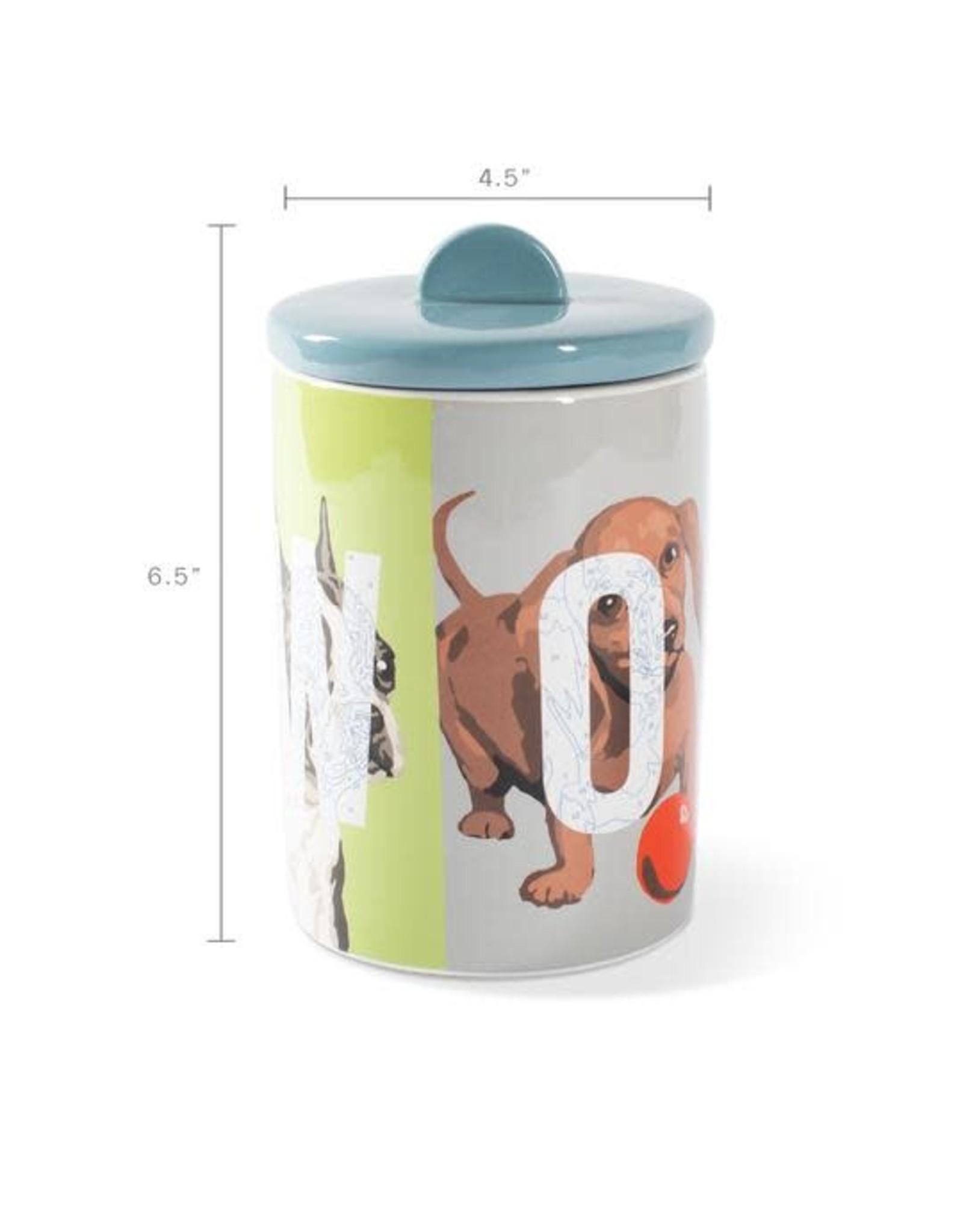 Pet Shop by Fringe Studio FRINGE STUDIO WOOF CERAMIC TREAT JAR