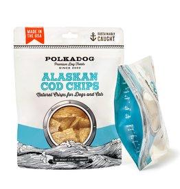 Polkadog Bakery POLKADOG ALASKAN COD CHIPS FOR DOGS & CATS 5OZ