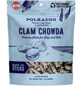 Polkadog Bakery POLKADOG CLAM CHOWDA CLAM RECIPE CRUNCHY STICKS FOR DOGS & CATS 5OZ