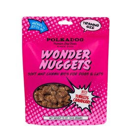 Polkadog Bakery POLKADOG WONDER NUGGETS WITH TURKEY & CRANBERRY SOFT AND CHEWY BITS FOR DOGS & CATS 12OZ