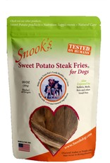 Snooks Pet Products SNOOK'S SWEET POTATO STEAK FRIES FOR DOGS 10OZ