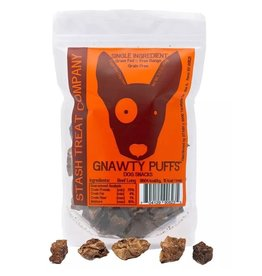 Stash Treat Company STASH GNAWTY PUFFS BEEF LUNG DOG SNACKS 5.5OZ
