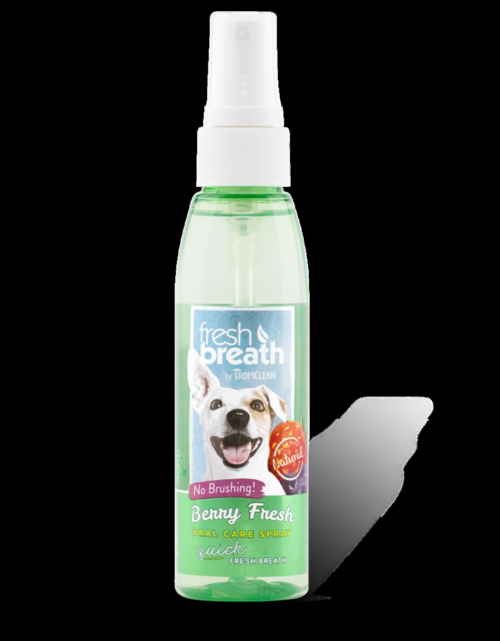 TropiClean TROPICLEAN DOG FRESH BREATH ORAL CARE SPRAY BERRY FRESH 4OZ