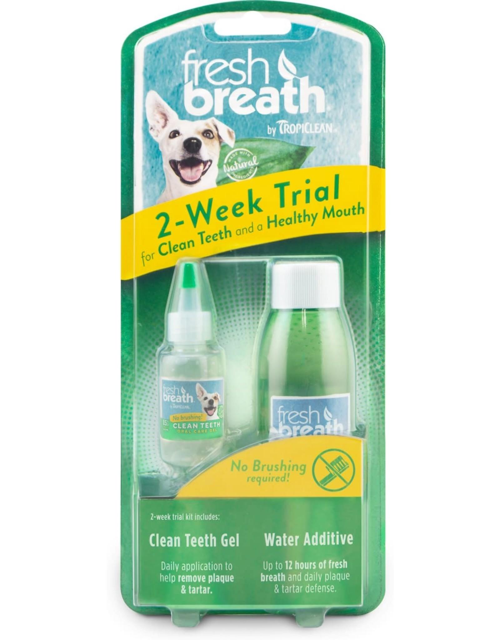 TropiClean TROPICLEAN FRESH BREATH 2-WEEK TRIAL CLEAN TEETH GEL & WATER ADDITIVE