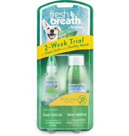 TropiClean TROPICLEAN FRESH BREATH 2-WEEK TRIAL CLEAN TEETH GEL & WATER ADDITIVE