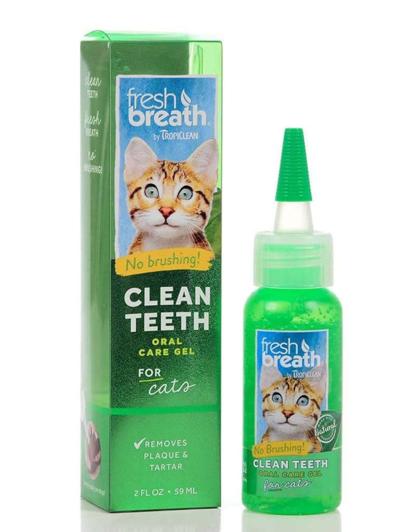 TropiClean TROPICLEAN FRESH BREATH CLEAN TEETH ORAL CARE GEL FOR CATS 2OZ