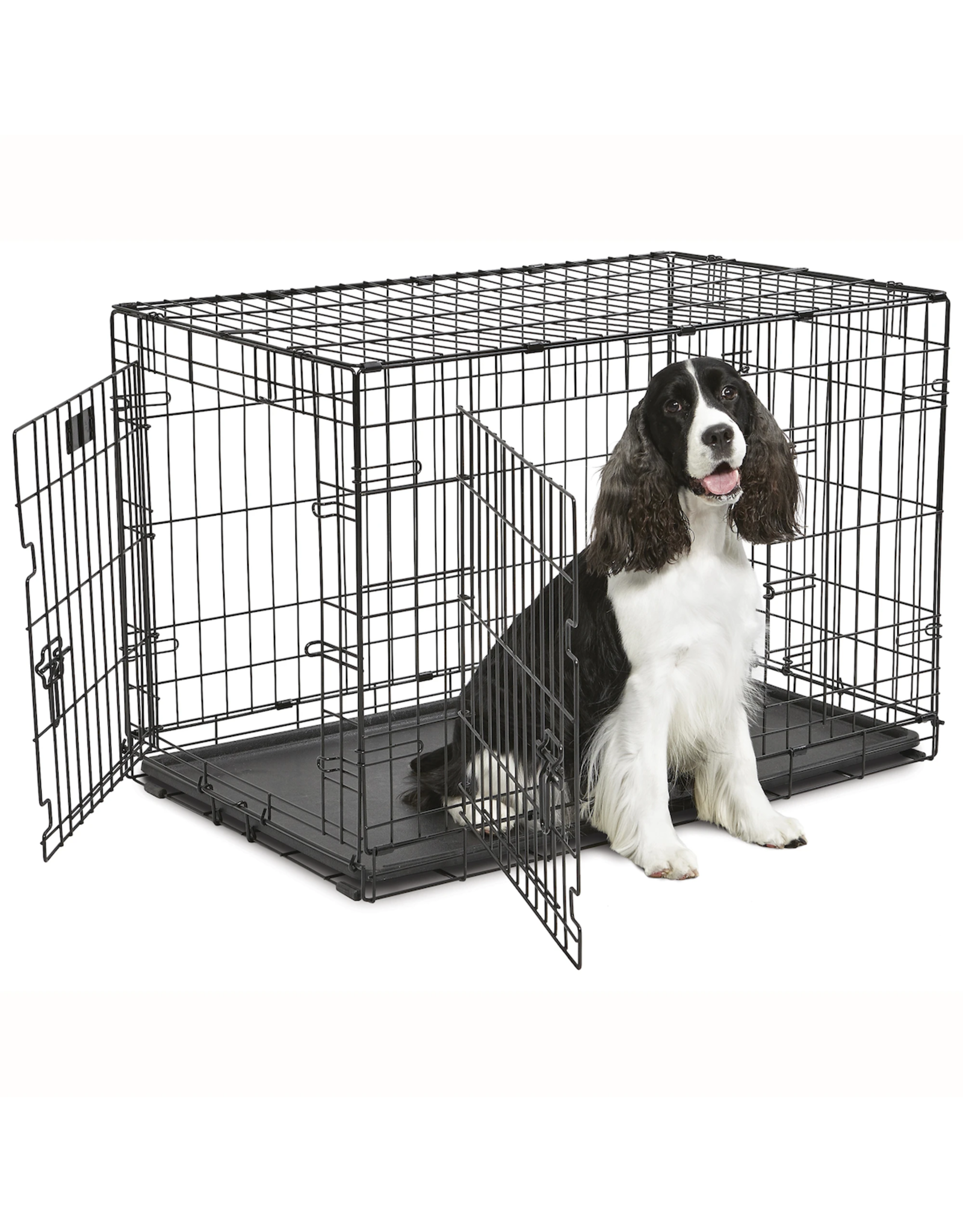 MidWest Homes for Pets MIDWEST CONTOUR DOUBLE DOOR FOLDING DOG CRATE