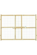 MidWest Homes for Pets MIDWEST WOOD PET GATE PATENTED LATCH WIRE & MESH