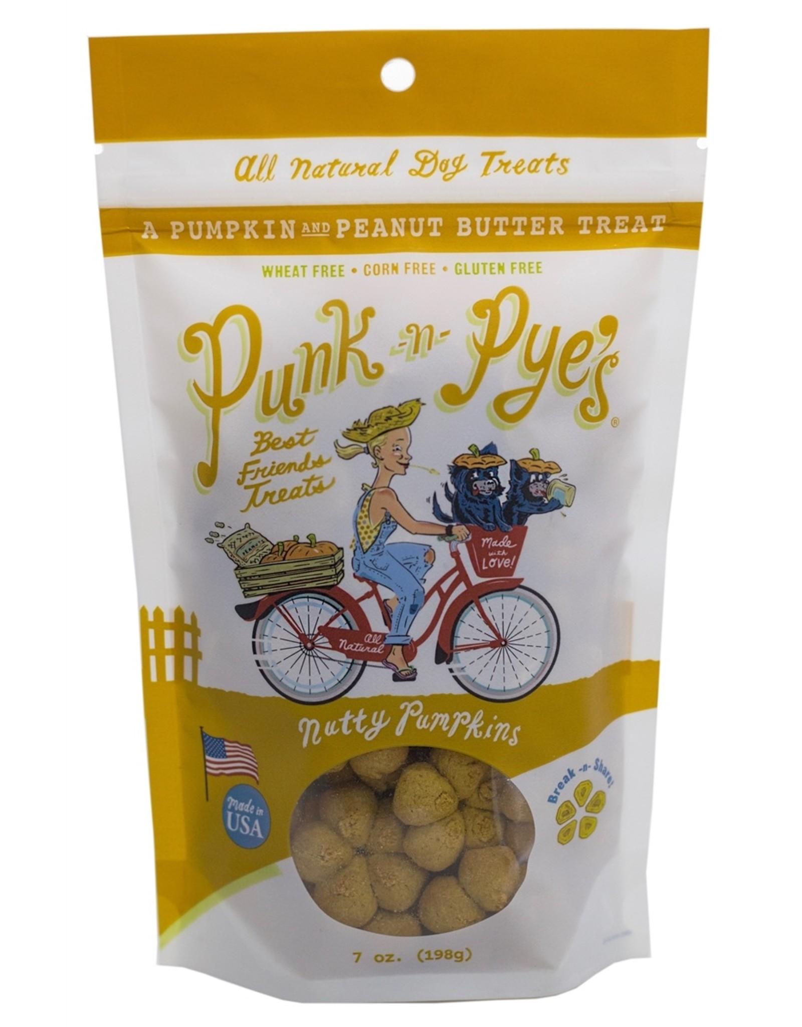 Punk-N-Pye's PUNK-N-PYE'S NUTTY PUMPKINS PUMPKIN & PEANUT BUTTER DOG TREATS 7OZ