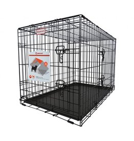 PetCrest PETCREST PREMIUM DOUBLE DOOR FOLDING DOG CRATE