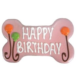Pawsitively Gourmet PAWSITIVELY GOURMET BAKERY PINK BIRTHDAY BONE COOKIE