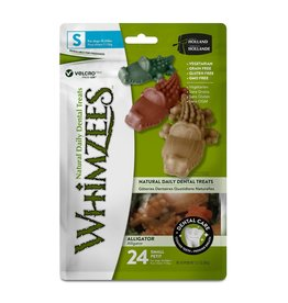 Whimzees WHIMZEES DENTAL TREATS ALLIGATOR SMALL 24-COUNT BAG