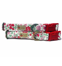 Very Vintage Designs VERY VINTAGE IN BLOOM ORGANIC COTTON DOG COLLAR